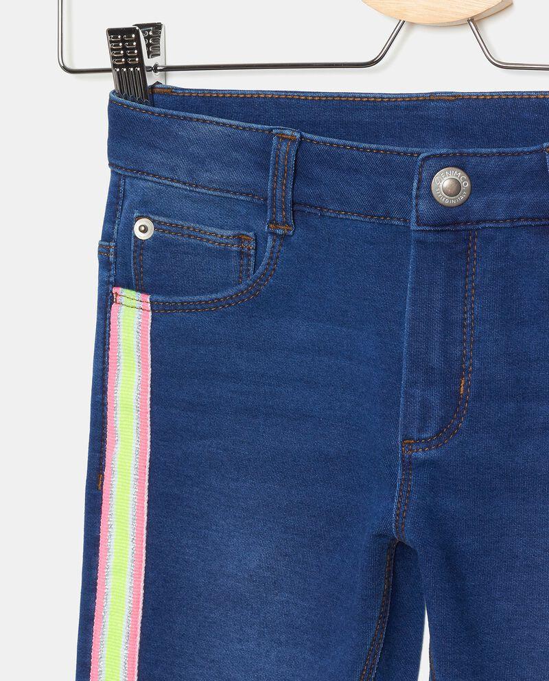 Jeans di cotone elasticato con bande bambinadouble bordered 1