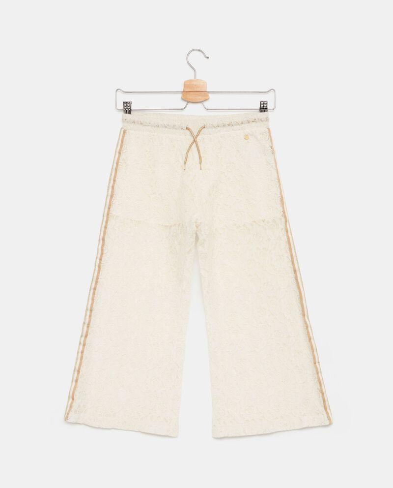 Pantaloni in pizzo con bande laterali ragazza