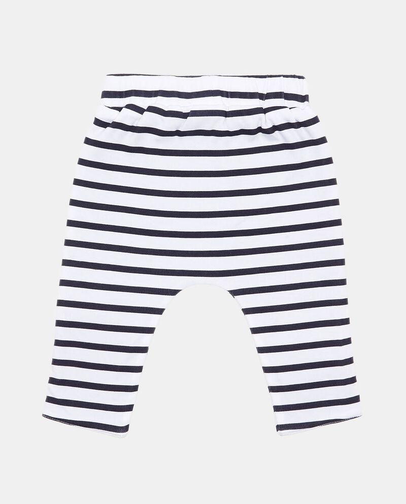Pantaloni con tasche fantasia a righe