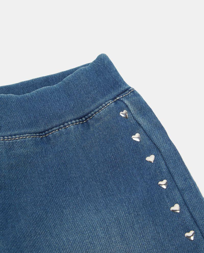 Jeggings in cotone elasticizzato con borchie neonata