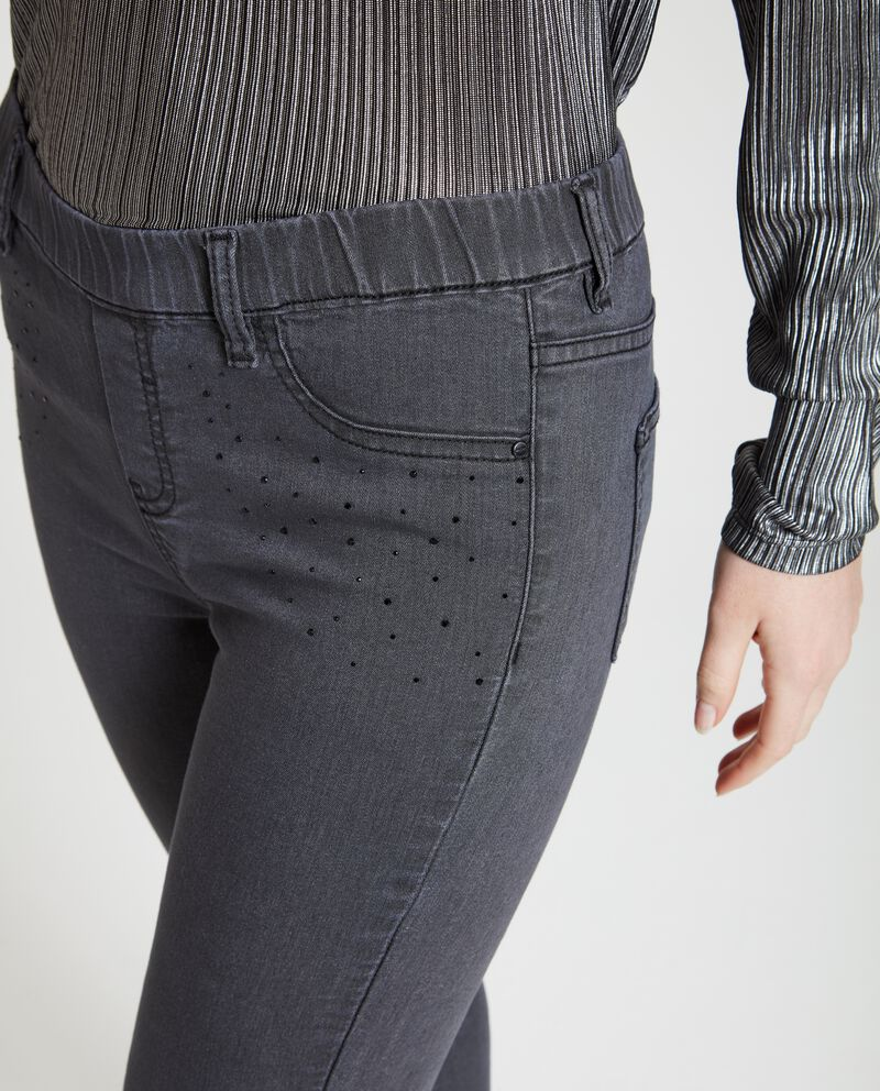 Jeggings con strass donna