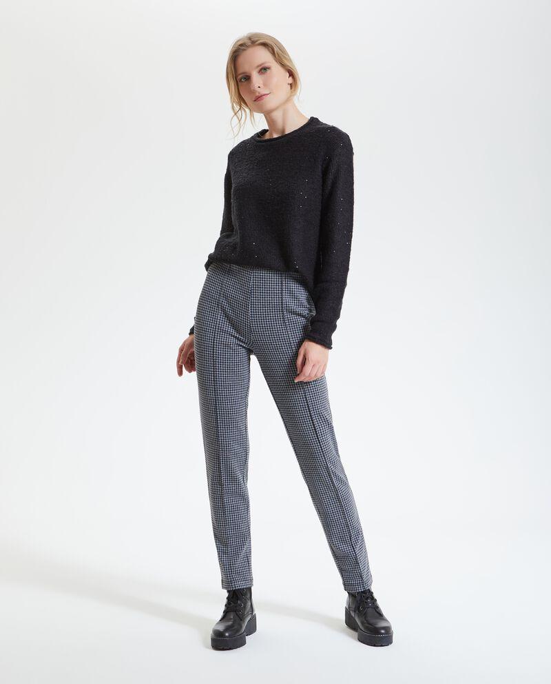 Pantaloni pied de poule donna
