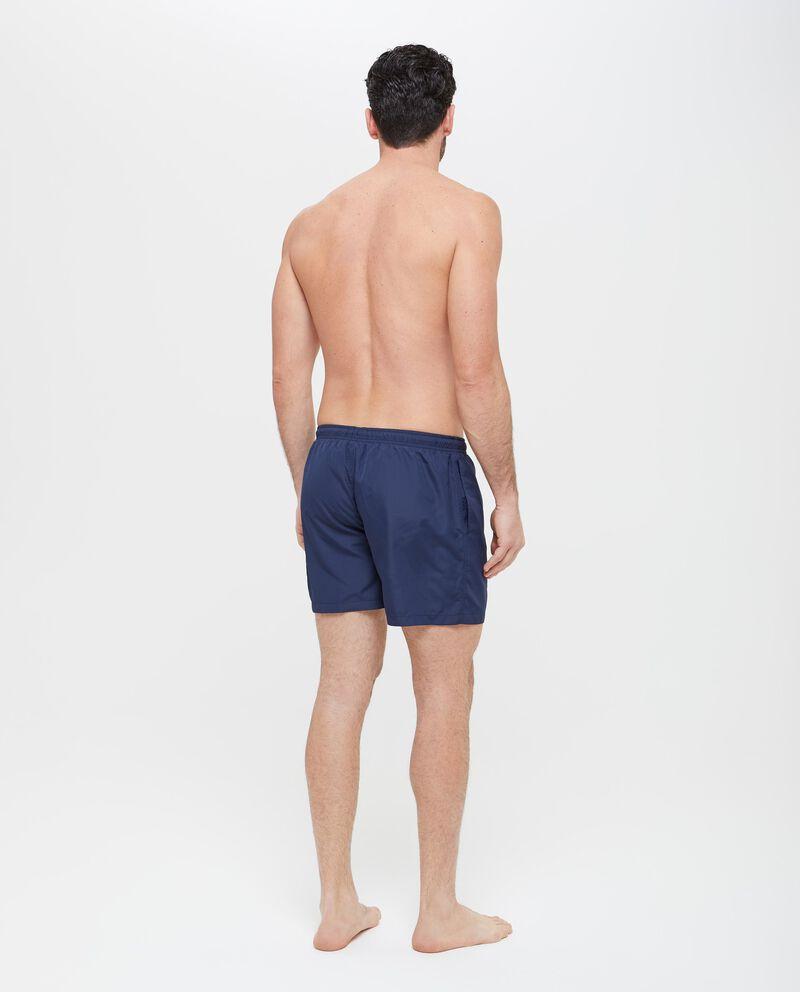 Shorts mare in tinta unita con fascia elastica uomo