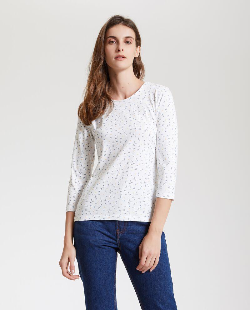 T-shirt con maniche a tre quarti donna