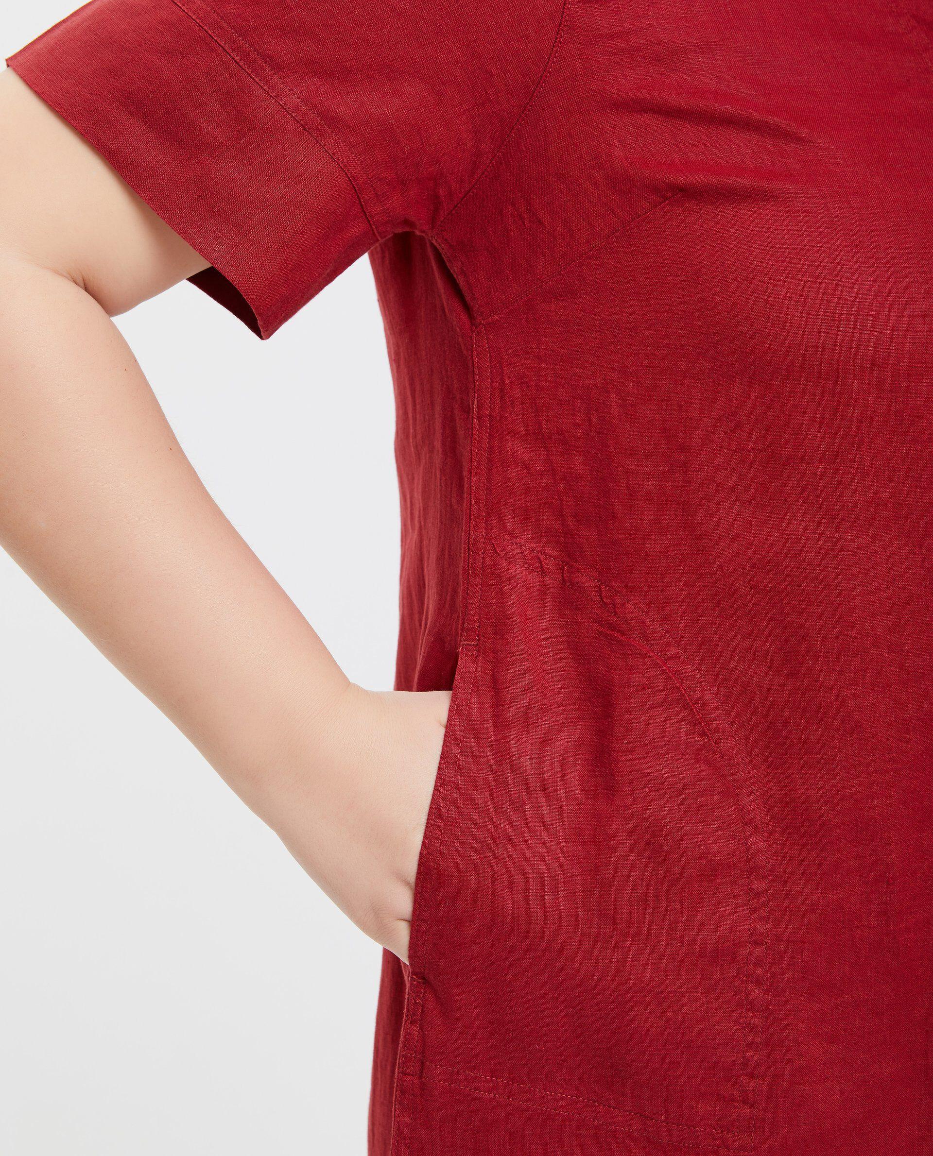 Vestito in tinta unita puro lino donna