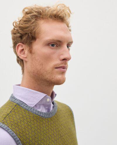 Gilet girocollo in lana misto cashmere uomo detail 2
