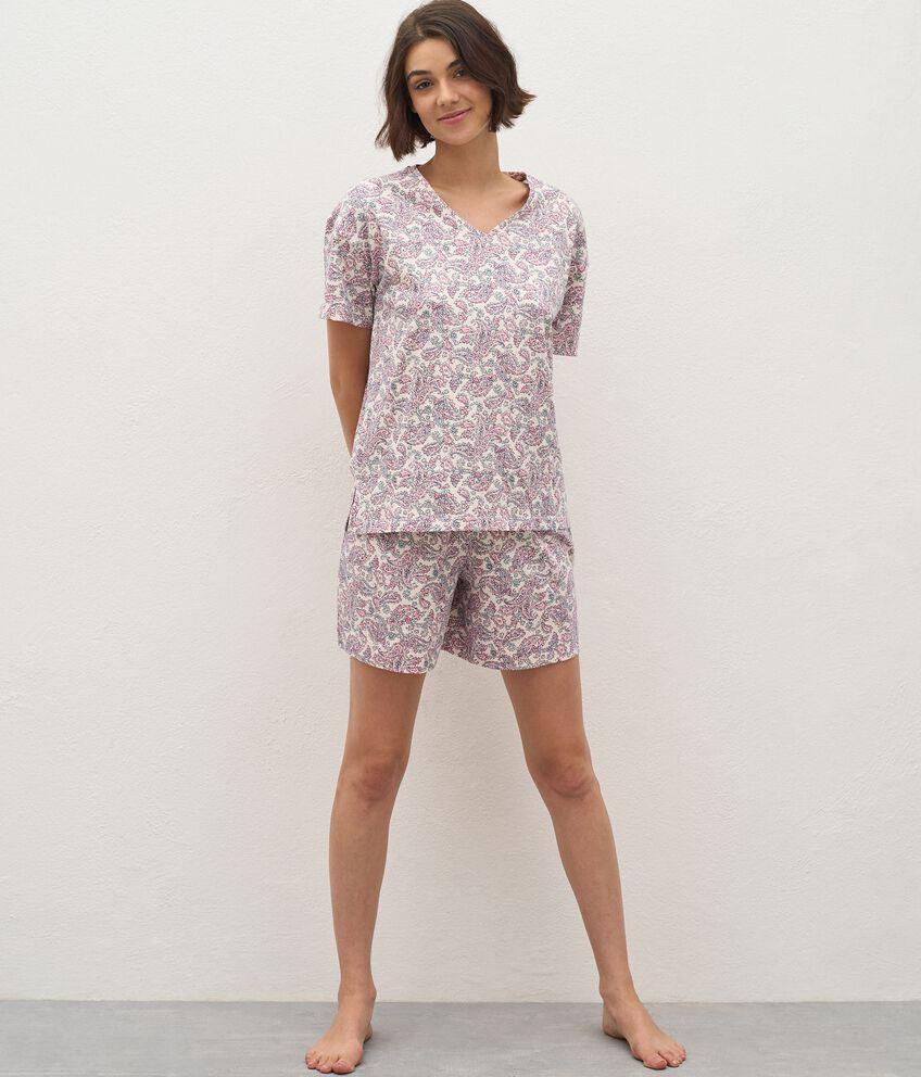 T-shirt pigiama di puro cotone donna double 1