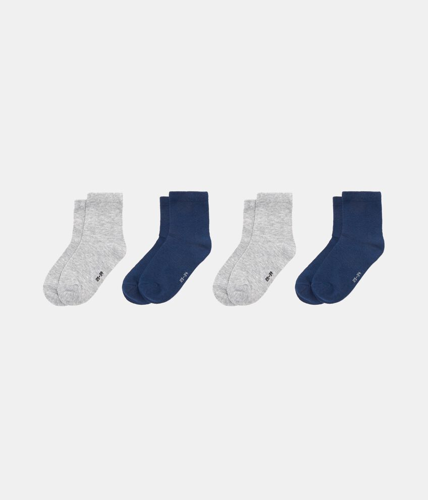 Set quattro paia di calze tinta unita
