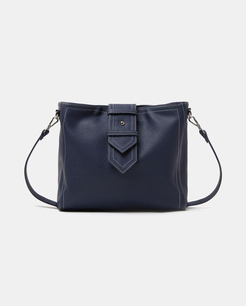 Citybag in tinta unita effetto similpelle donna