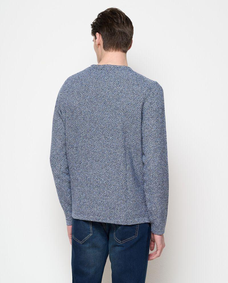 Pullover bouclé in puro cotone uomo