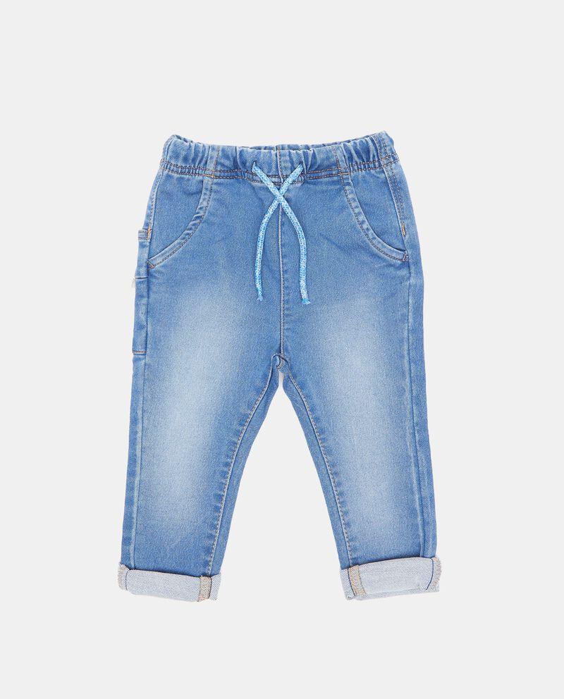 Pantaloni con cordoncino e fascia elastica neonato
