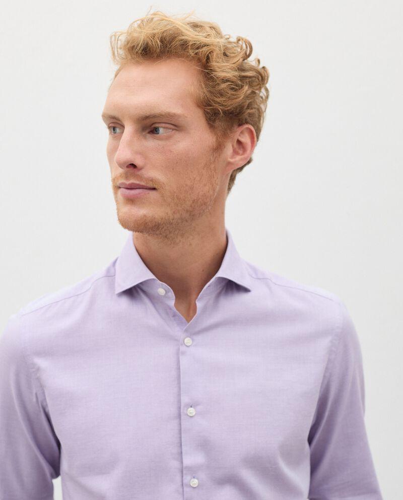Camicia di puro cotone in micro fantasia uomo single tile 2