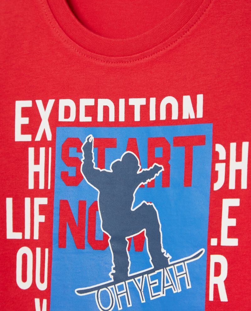 T-shirt con lettering bambino