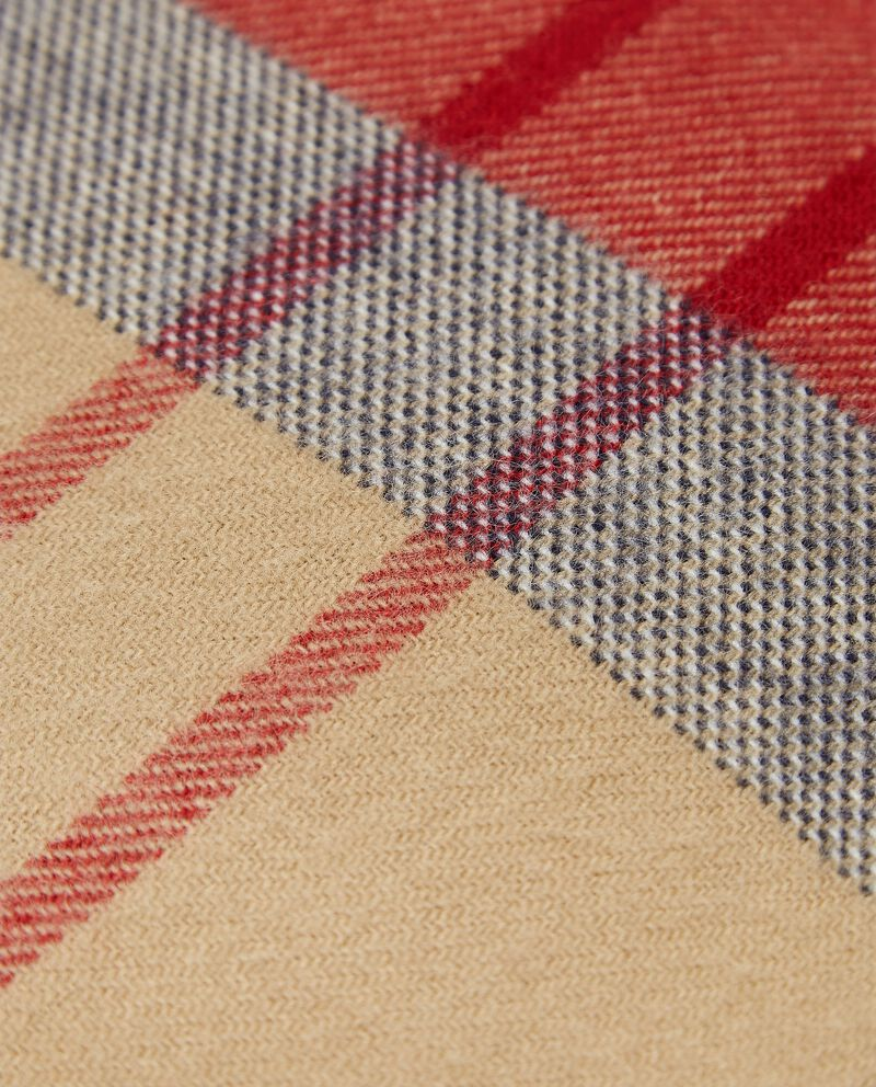 Plaid a quadri con frange single tile 1