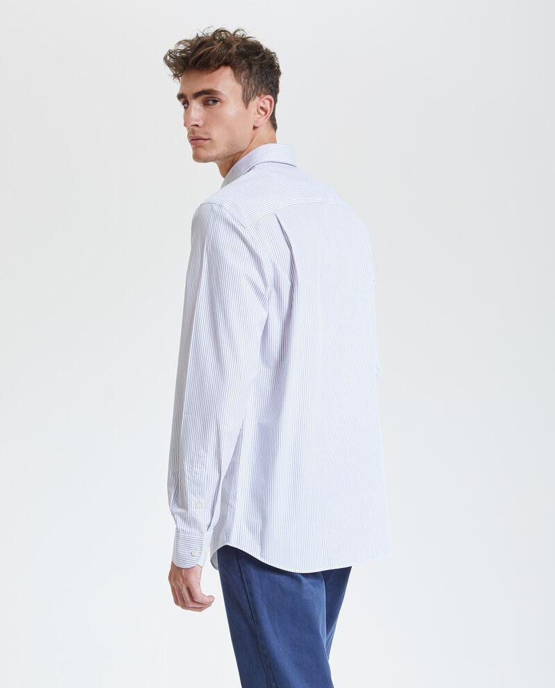 Camicia in puro cotone con righe uomo