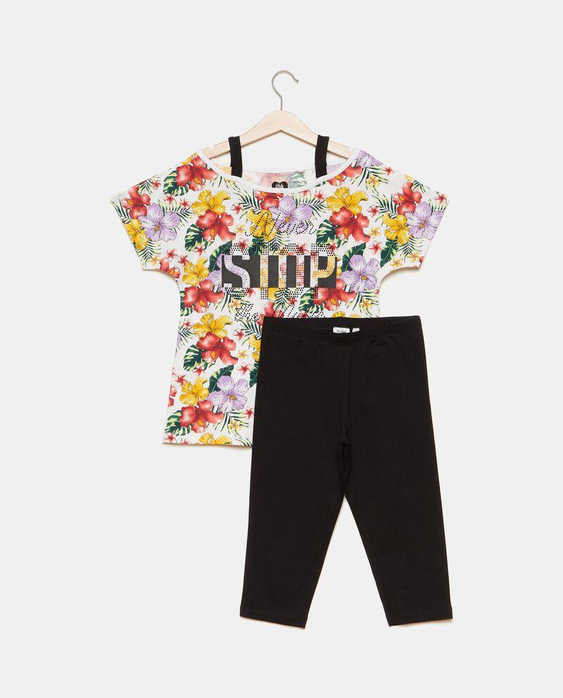 Set jogging con t-shirt e leggings ragazza