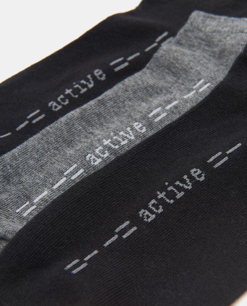 Set con 3 paia calzini in cotone stretch uomo
