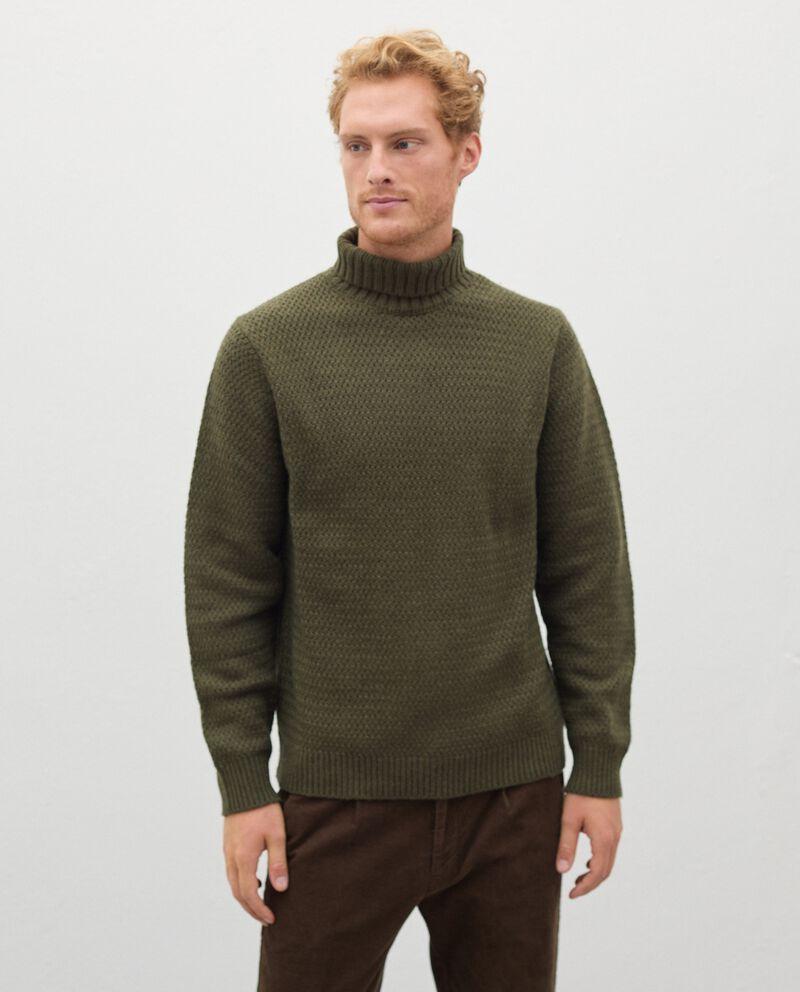 Maglione a collo alto in lana misto cashmere uomo cover