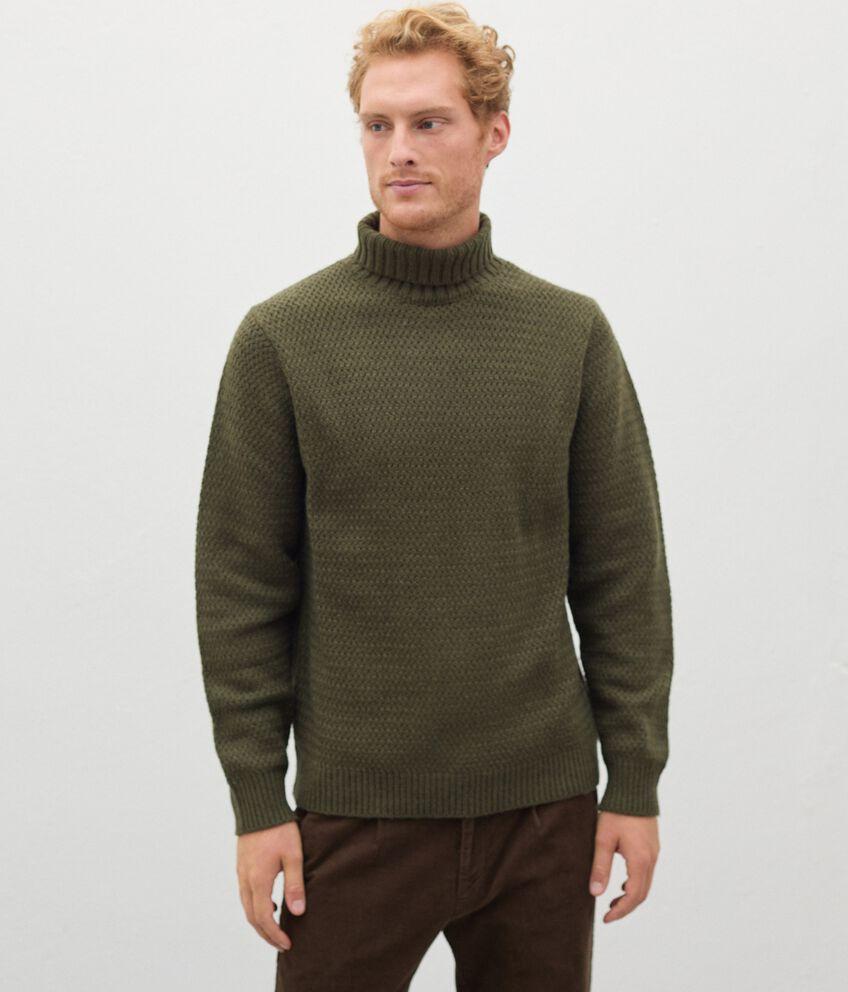 Maglione a collo alto in lana misto cashmere uomo double 1