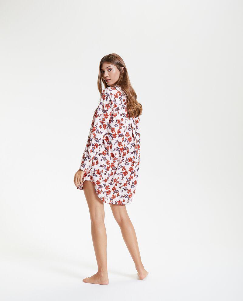 Camicia da notte in fantasia floreale donna