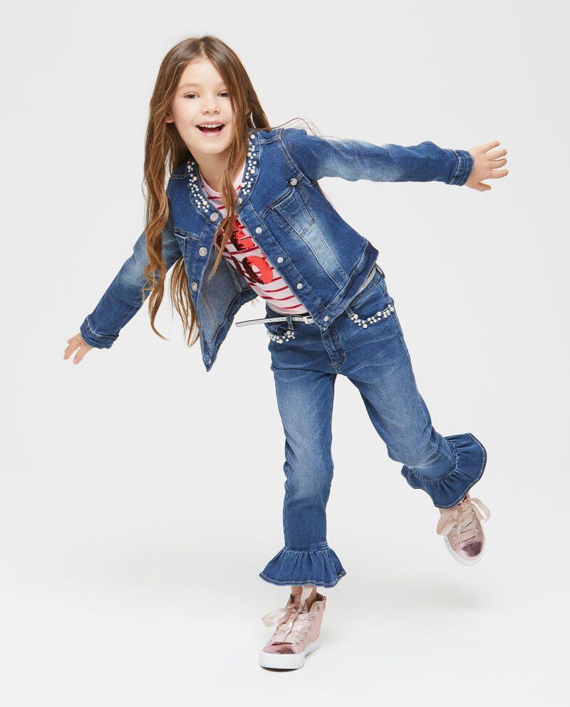 Giubbino di jeans con perline