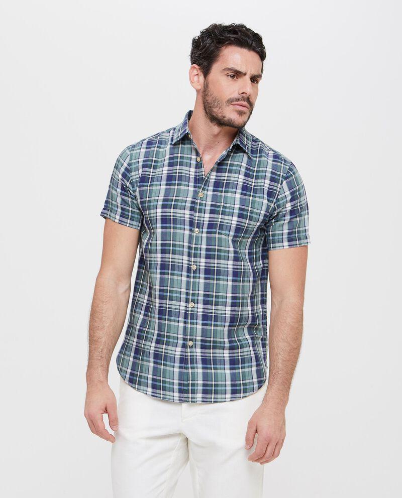 Camicia lino e cotone con taschino