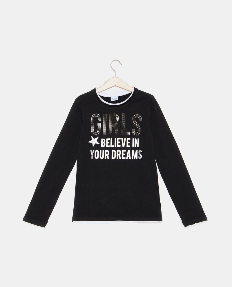 T-shirt con strass ragazza