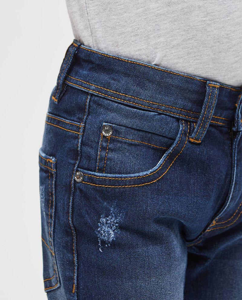 Jeans cinque tasche effetto used