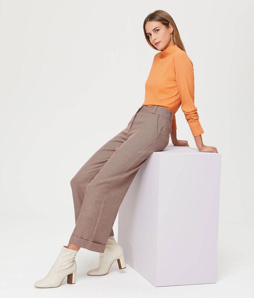 Pantaloni fantasia pied de poule