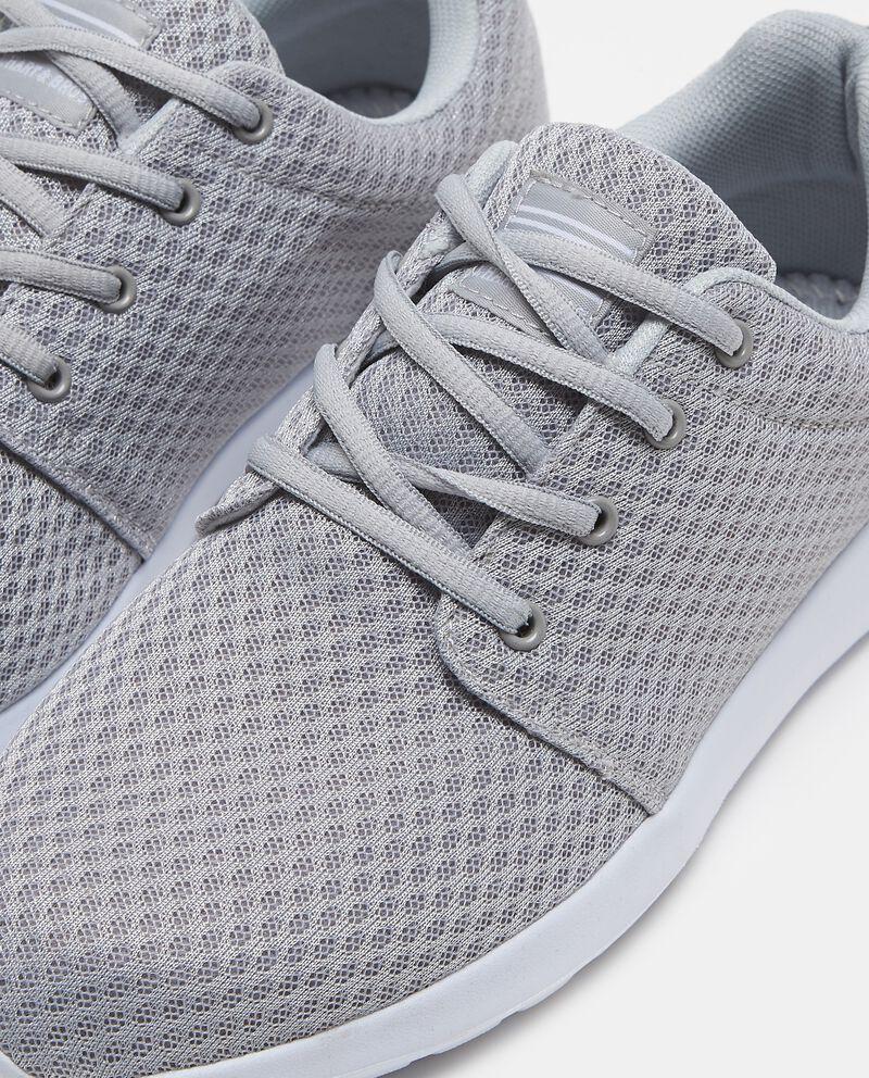 Sneakers con tomaia a rete