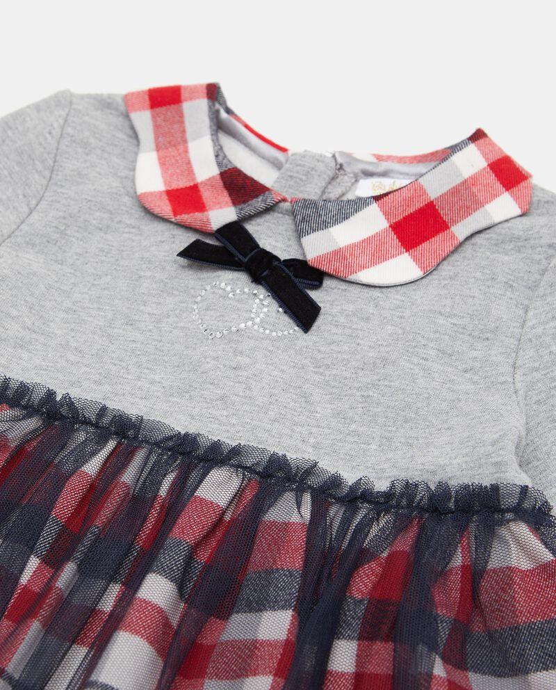 Vestitino con tulle e motivo a quadri neonata single tile 1