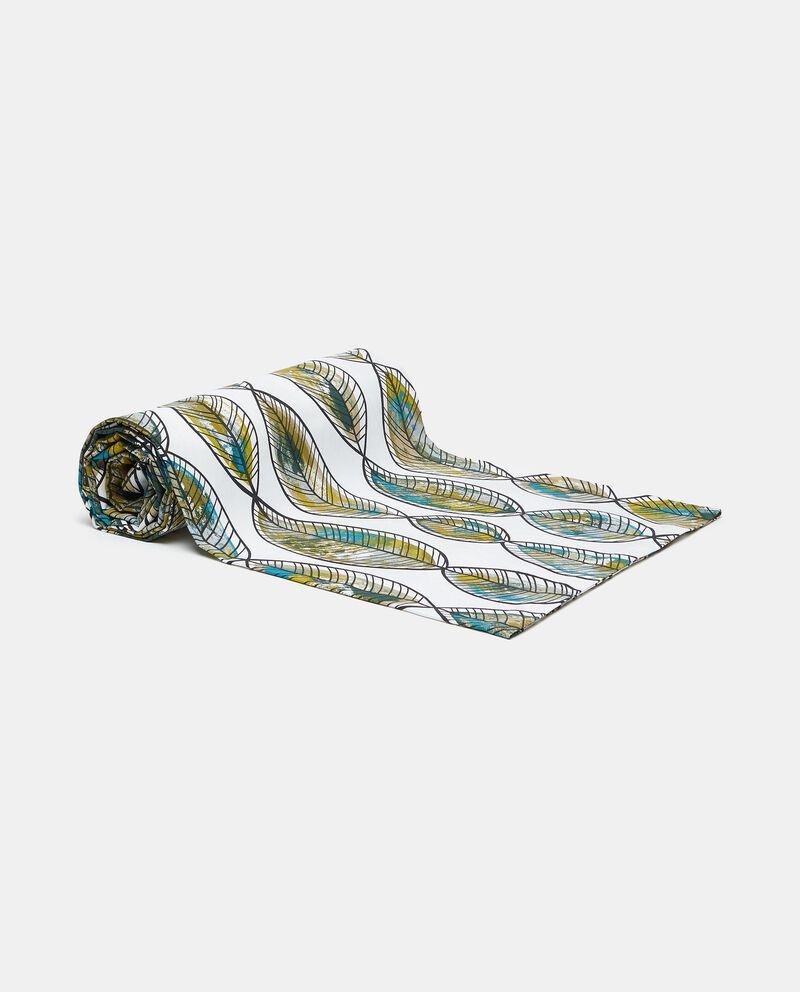 Telo con stampa foglie in puro cotone cover