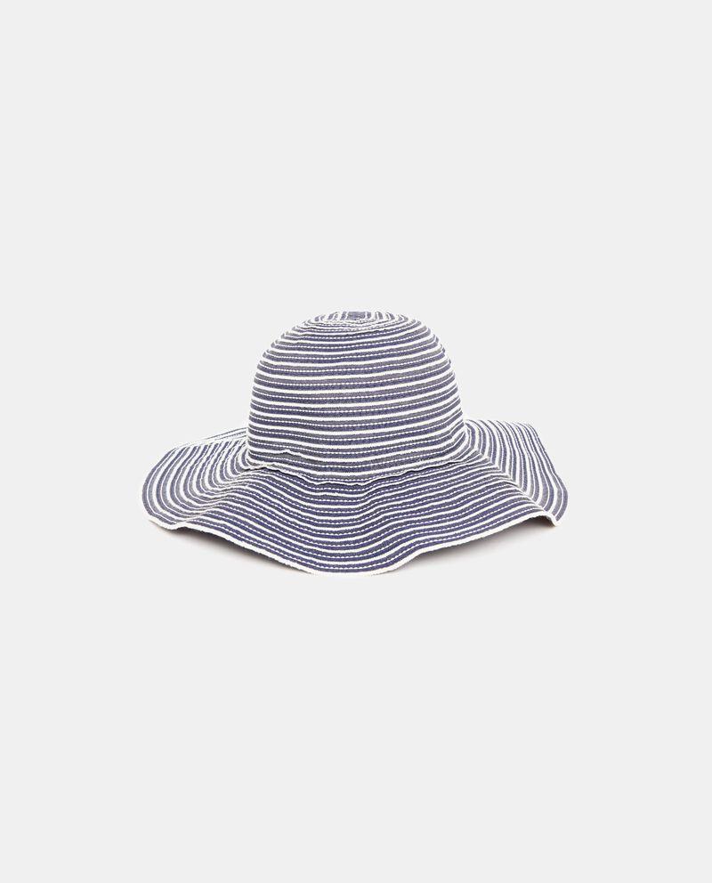 Cappello estivo in tessuto a tesa larga donna