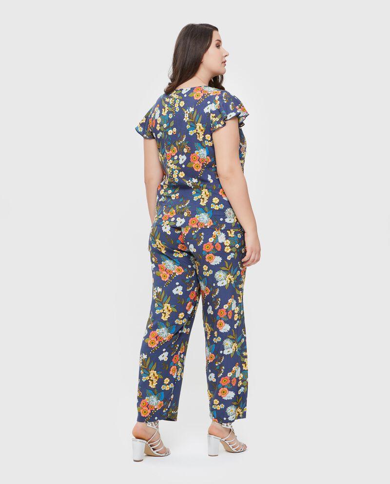 Camicia in pura viscosa con fantasia floreale Curvy donna