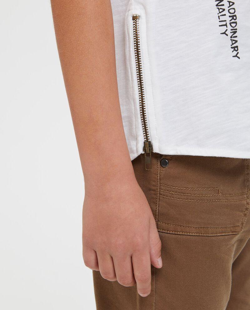 T-shirt puro cotone girocollo patch