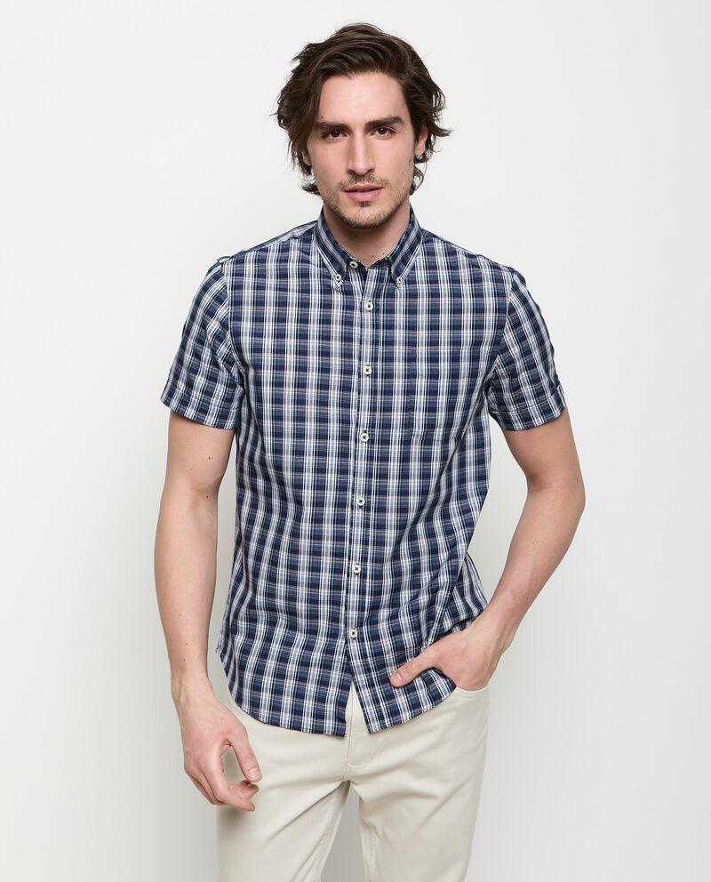 Camicia a quadri in cotone uomo