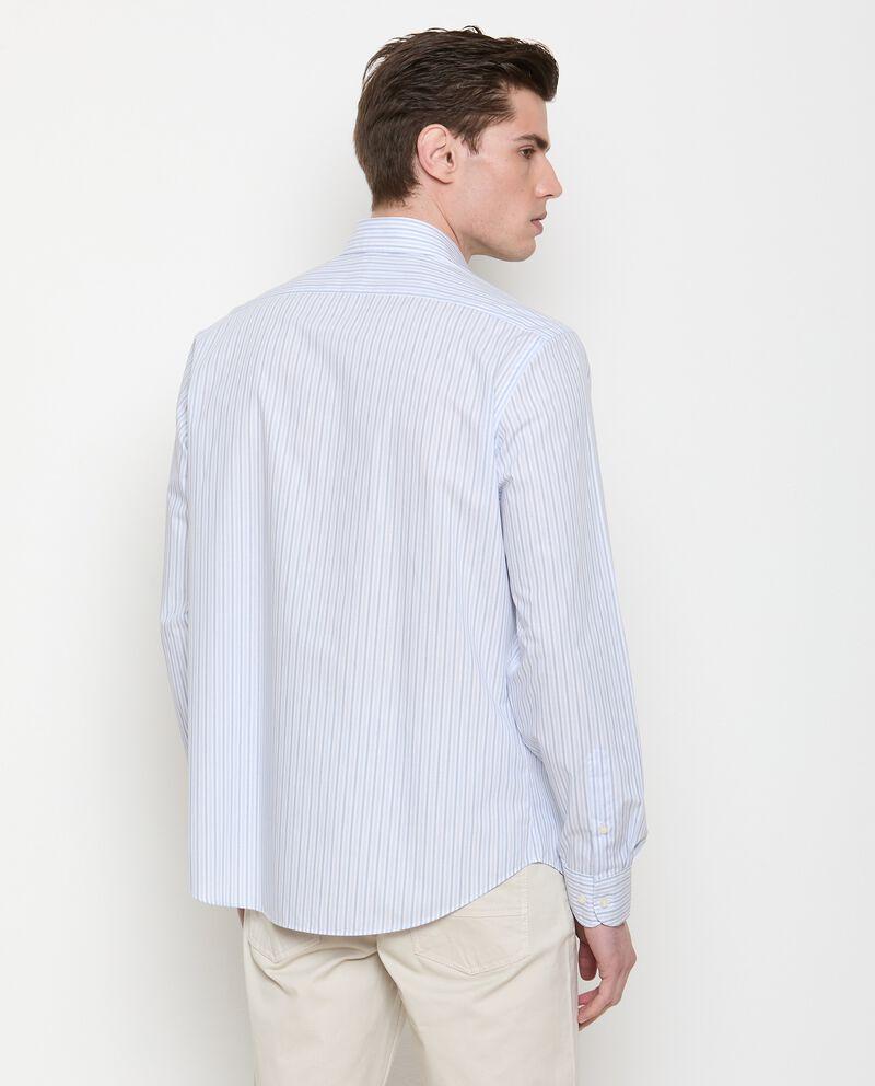 Camicia a righe di puro cotone uomo single tile 1