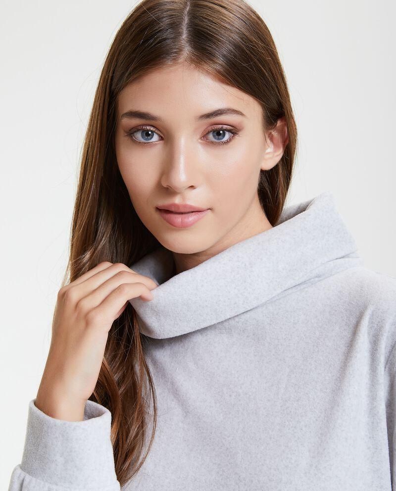 Maglia pigiama con collo alto morbido donna