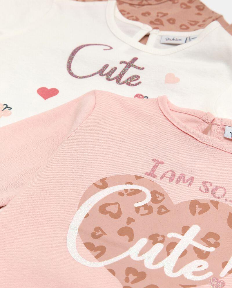 Pack con 3 t-shirt di cotone stretch neonatadouble bordered 1