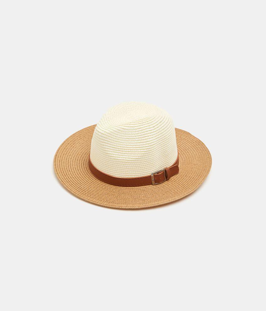 Cappello panama con cinturino donna