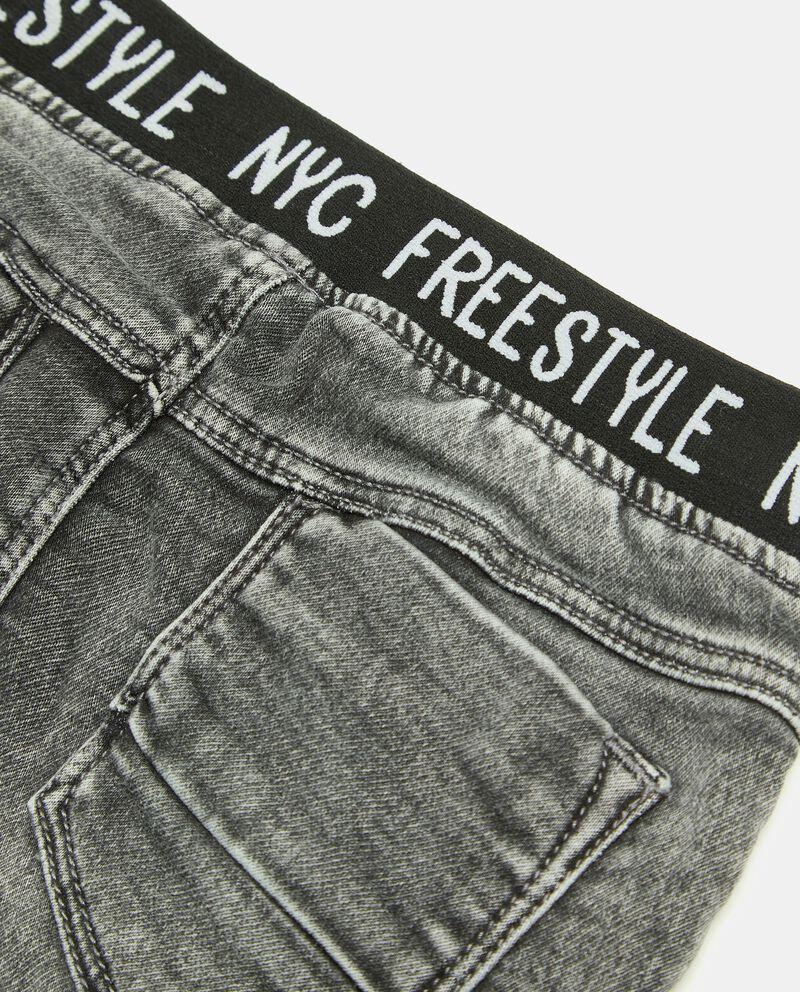 Pantaloni denim con elastico parlato neonatodouble bordered 1