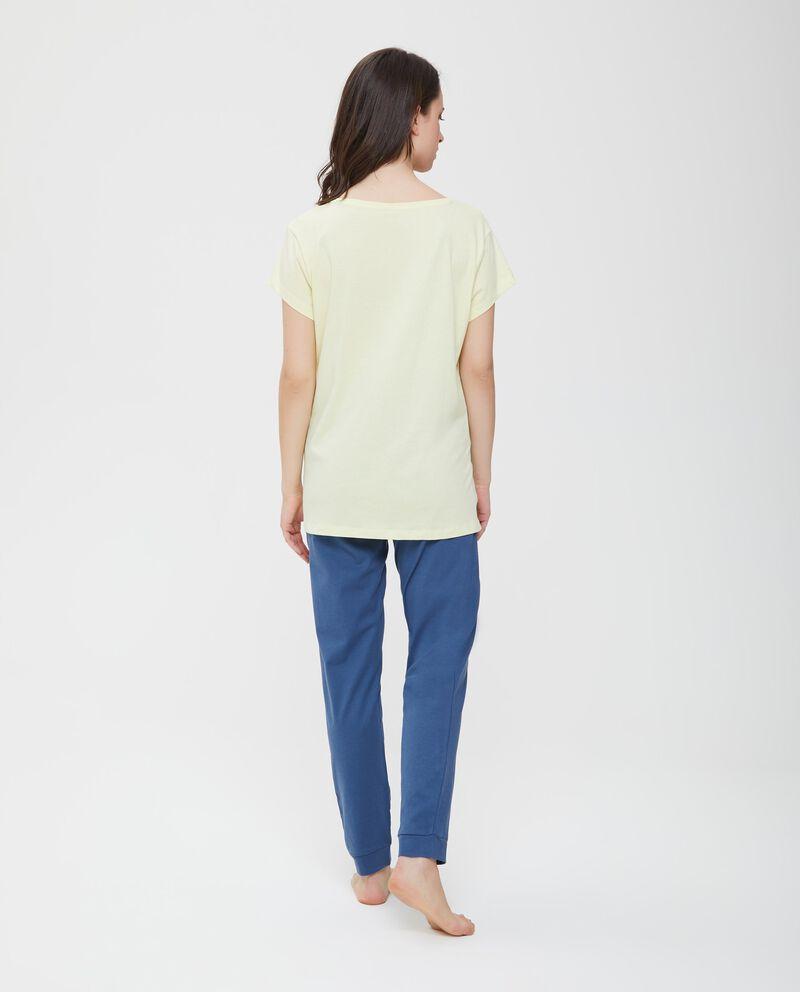 Maglia pigiama puro cotone inserto