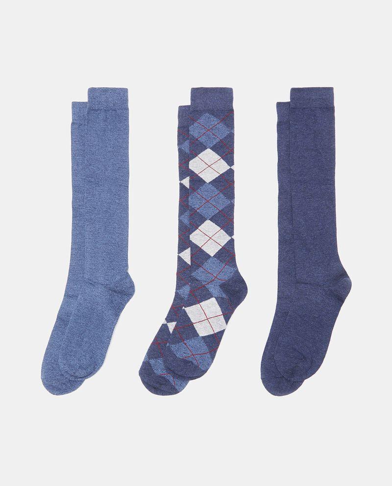 Set calzini in fantasia e tinta unita uomo