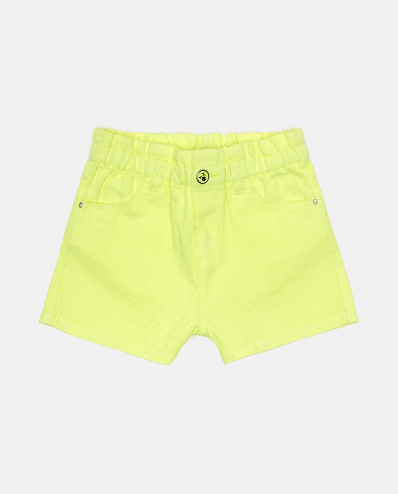 Shorts in lino misto cotone tinta unita neonata cover