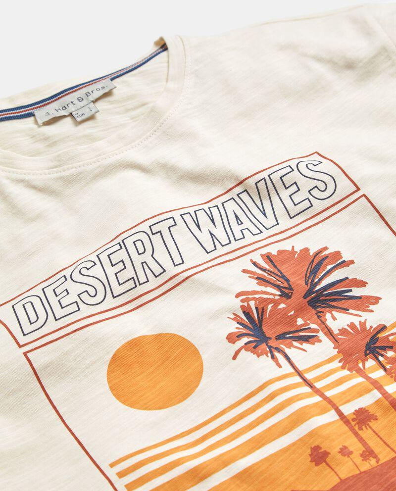 T-shirt con stampa in puro cotone