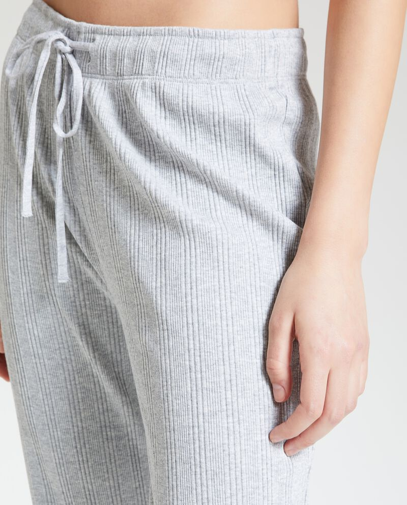 Pantaloni pigiama con righine donna