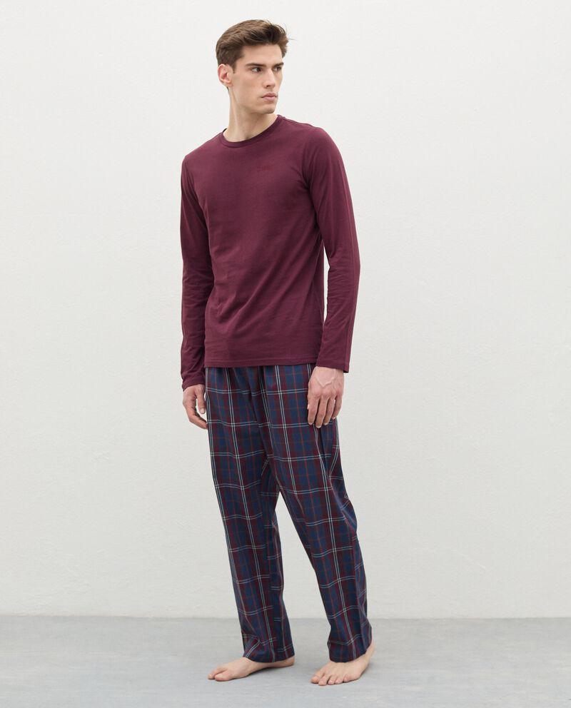 Pantaloni del pigiama a quadri in cotone uomodouble bordered 0