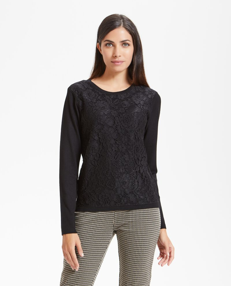 Pullover pizzo donna