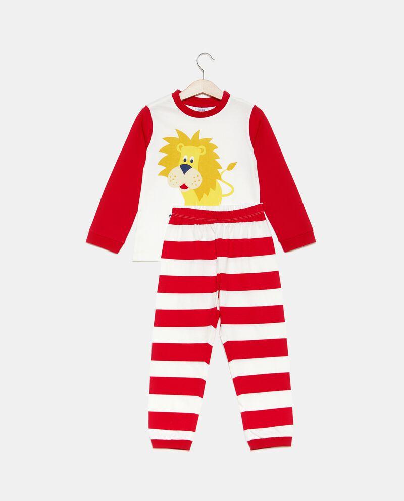 Set pigiama t-shirt e pantaloni motivo a righe bambino