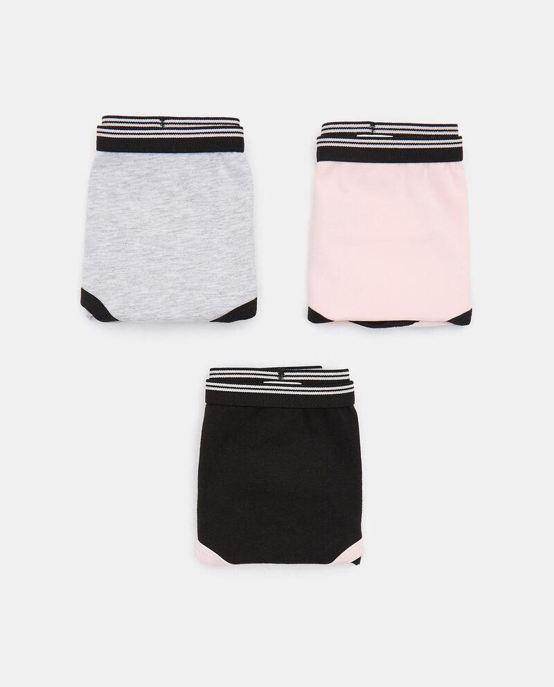 Pack con 3 slip sportivi di cotone organico ragazza cover